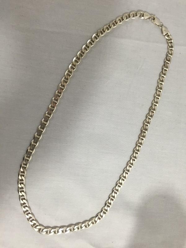 """22"""" Silver Anchor Chain 925 Silver 26.5dwt"""