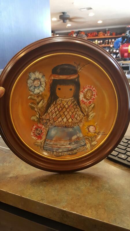 DE GRAZIA Collectible Plate/Figurine LITTLE COCOPAH INDIAN GIRL
