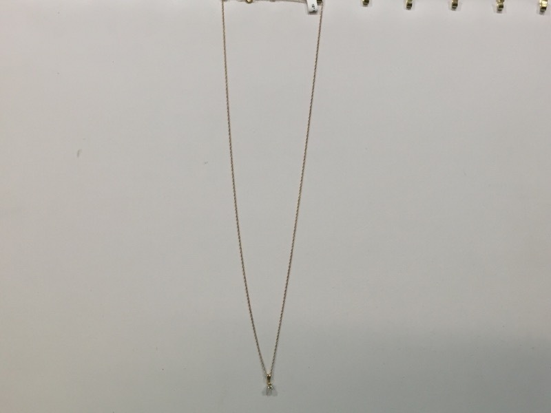 "18"" Diamond Necklace .08 CT. 14K Yellow Gold 0.8g"