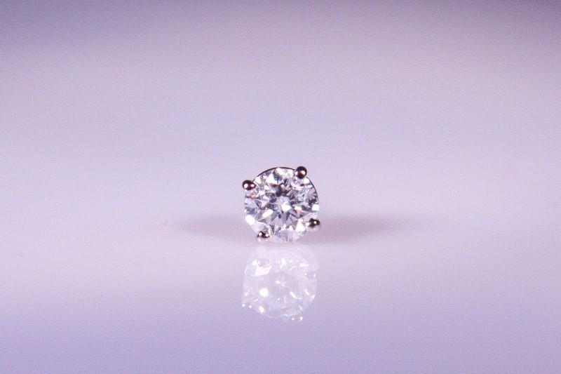 Gold-Diamond Earrings .67 CT. 14K White Gold 2g