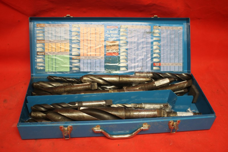DRILL PRESS BITS LARGE IN BOSCH CASE