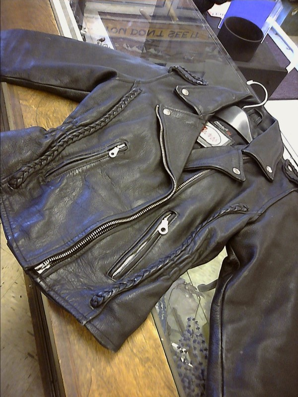 ROUTE 66 Clothing BLACK LEATHER JACKET