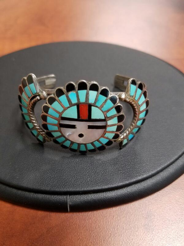 Black Stone Silver-Stone Bracelet 925 Silver 13.2dwt