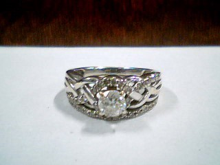 Lady's Diamond Wedding Set 39 Diamonds .63 Carat T.W. 14K White Gold 5.3g