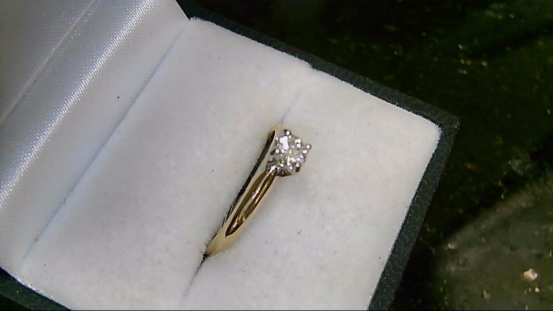 Lady's Diamond Solitaire Ring .28 CT. 14K Yellow Gold 2.3g