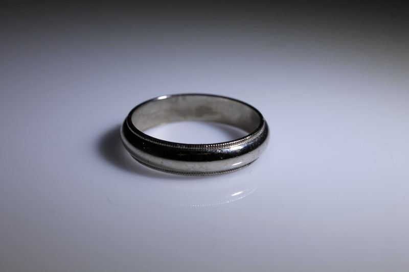Gent's Gold Ring 14K White Gold 7.4g