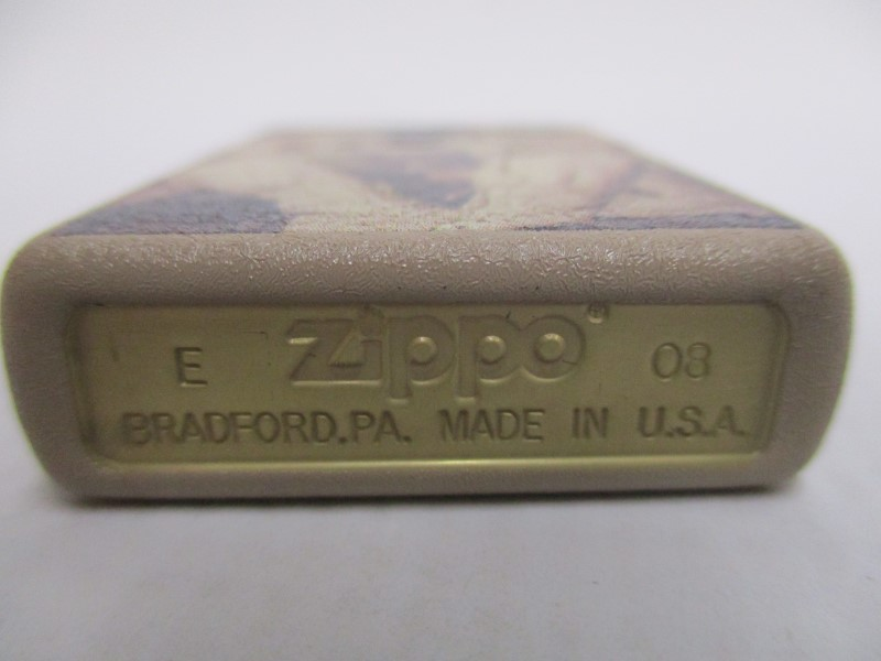 ZIPPO LIGHTER 24488 MZC HEROES TRIBUTE CRACKLE FINISH