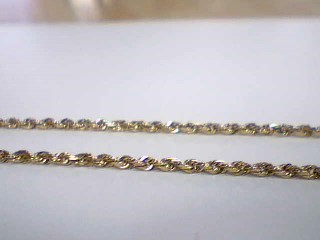 "30"" Gold Singapore Chain 10K Yellow Gold 5.1g"