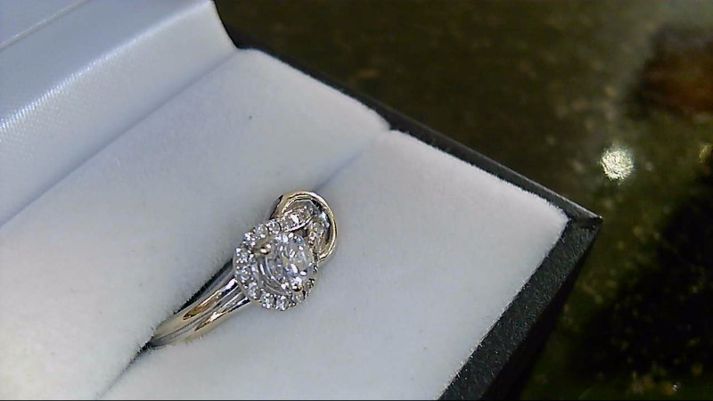 Lady's Diamond Fashion Ring 31 Diamonds .63 Carat T.W. 14K White Gold 3.3g