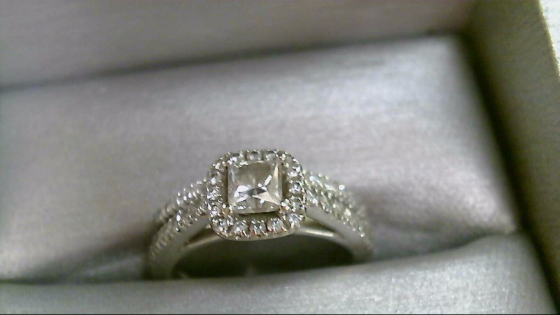 Lady's Diamond Wedding Set 48 Diamonds 1.08 Carat T.W. 14K White Gold 5.7g