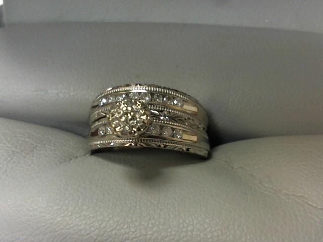 Lady's Diamond Wedding Set 20 Diamonds .20 Carat T.W. 10K White Gold 4.3g