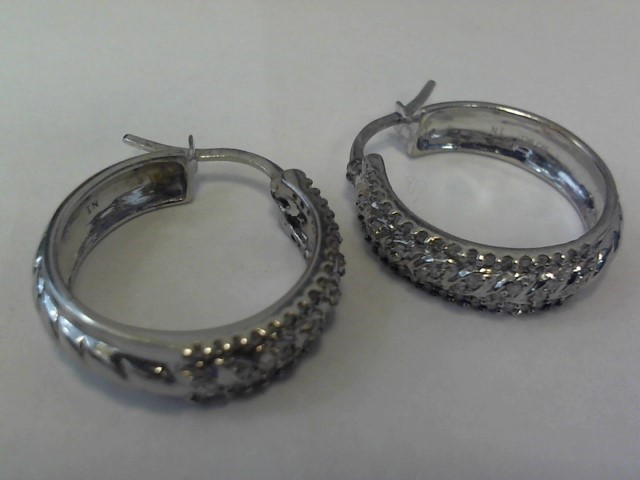 Silver Earrings Silver Plate 4.2dwt