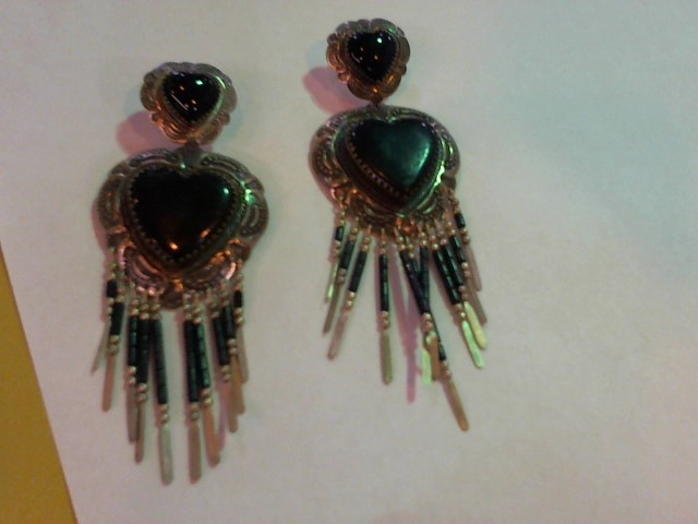 Black Stone Silver-Stone Earrings 925 Silver 25.9g
