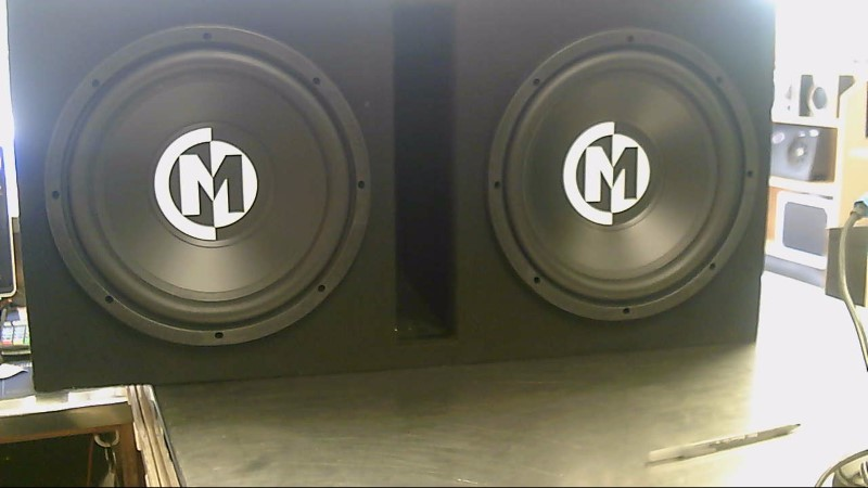 "MEMPHIS 12"" CAR SPEAKERS,CABINET"