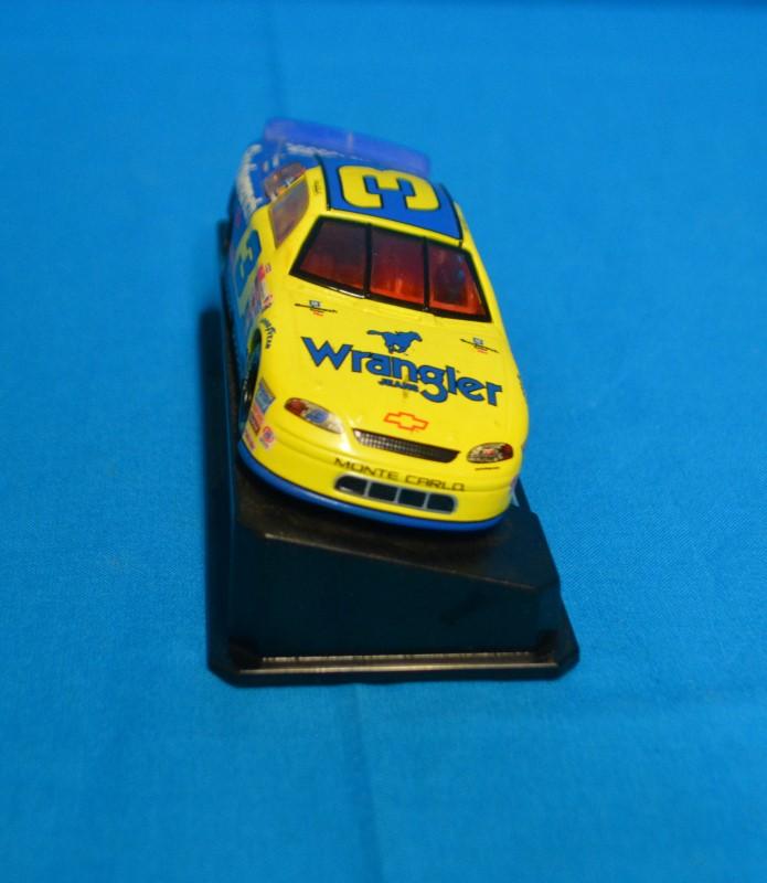 Hasbro 1999 Wrangler Monte Carlo Dale Earnhardt #3 Blue & Yellow Diecast Car