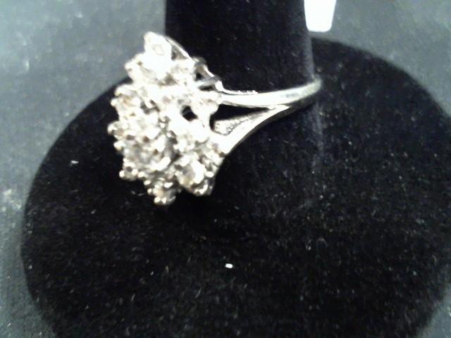 Lady's Diamond Cluster Ring 20 Diamonds .56 Carat T.W. 14K Yellow Gold 5.1g