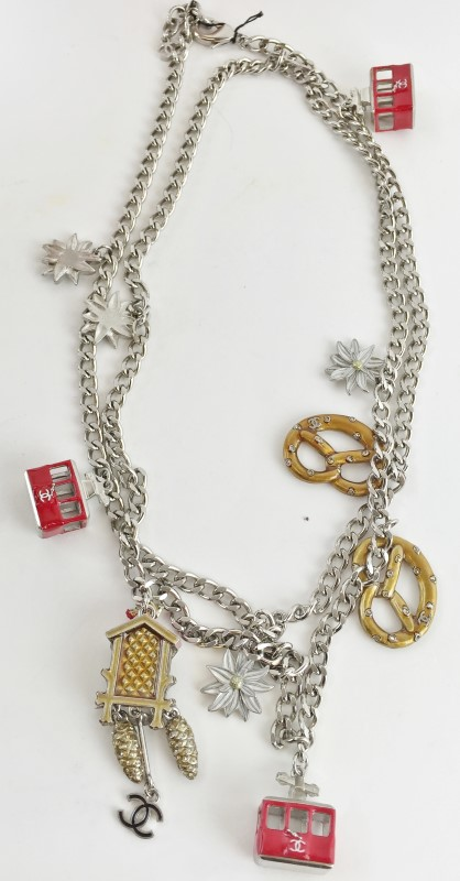 "Chanel 40"" Multi Charm Necklace SS 148g NWT ORIGINAL BOX"