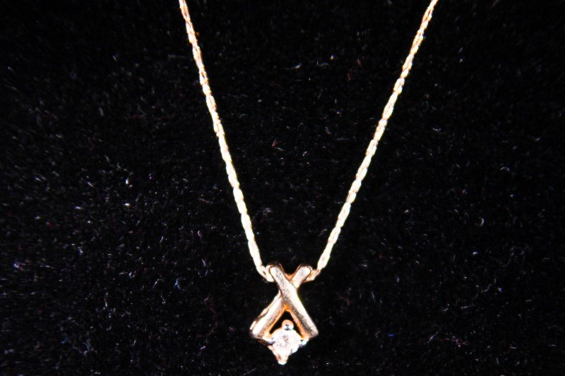 "18"" Diamond Necklace .05 CT. 10K Yellow Gold 0.8g"