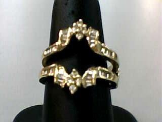 Lady's Gold-Diamond Ring Guard 44 Diamonds .52 Carat T.W. 14K Yellow Gold