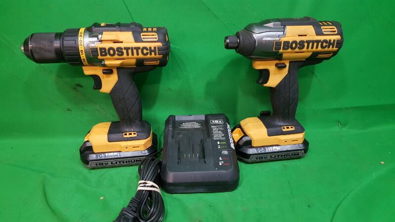 Bostitch 18V Lithium Drill/Impact Combo Kit, BTCK410L2