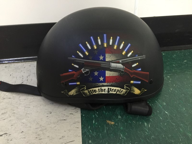 FULMER MOTORCYCLE HELMET AF-90, WE THE PEOPLE HELMET