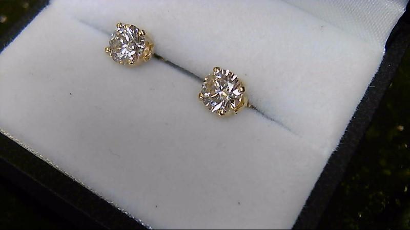 Diamond Stud 1.32 CTTW 14K Yellow Gold Earrings