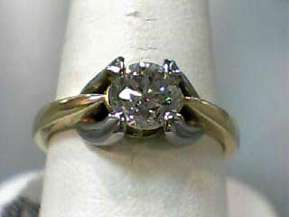 Lady's Diamond Solitaire Ring .95 CT. 18K Yellow Gold 3.7dwt Size:7.3