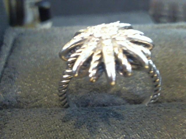 David Yurman Lady's Silver-Diamond Ring 27 Diamonds .240 Carat T.W. 925 Silver
