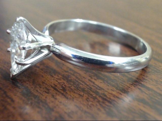 PEAR CUT NATURAL DIAMOND 1 CARAT ENGAGE RING 14K WHITE GOLD SZ 8.75