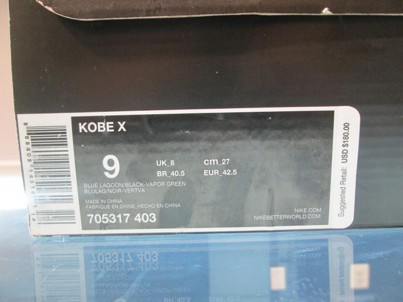 """KOBE X """"HORNET"""" SZ 9"""