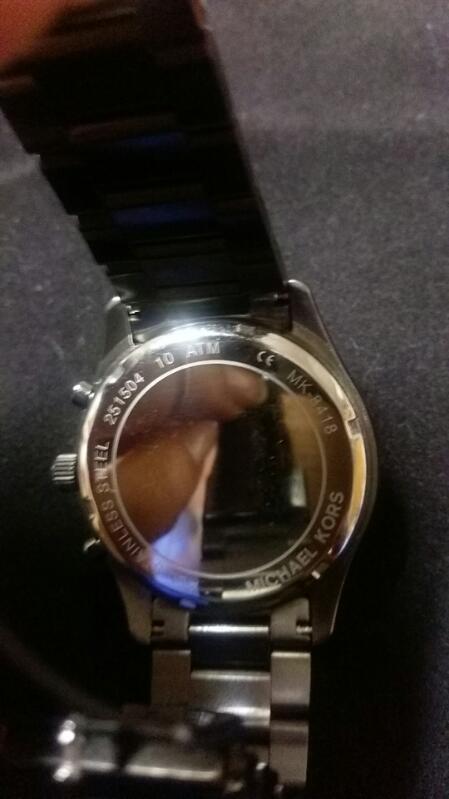 Michael Kors Gunmetal Mens Watch MK8418