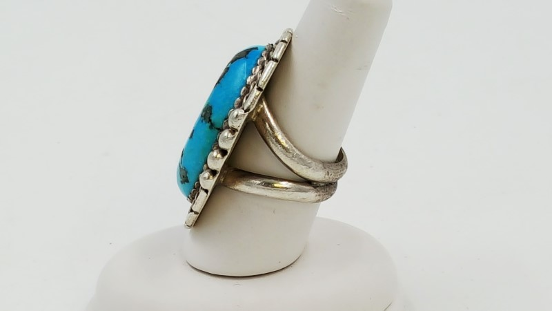 Men's Turquoise & Sterling Silver Ring Size: 9