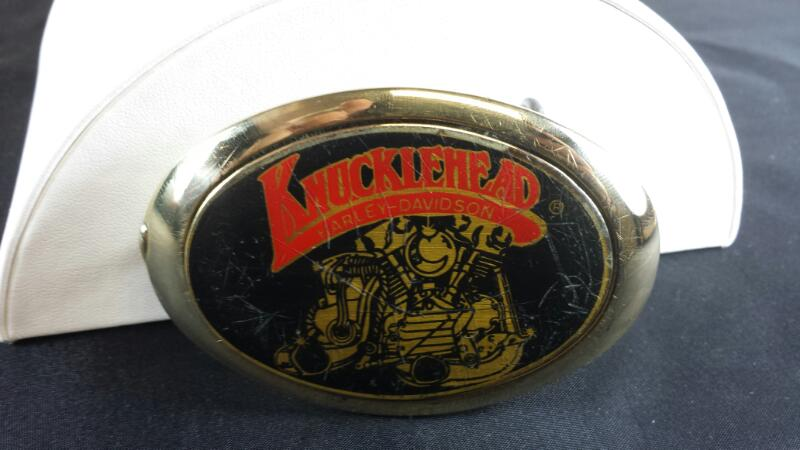 1983 Harley Davidson Knuckle Belt Buckle Brass