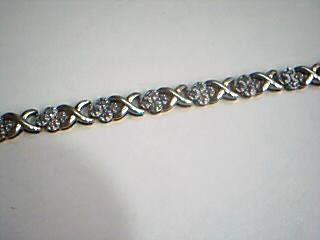Gold-Diamond Bracelet 60 Diamonds 1.20 Carat T.W. 14K Yellow Gold 6.3g