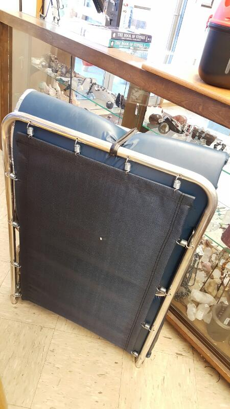Aluminum Frame FOLDING COT & MATTRESS, ALMOST NEW
