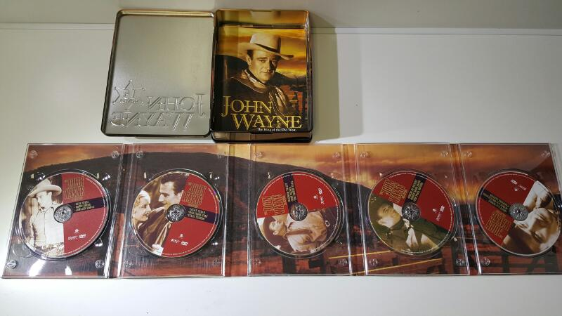 The John Wayne Collection 15 Disc Set (DVD) in Collectible Tin