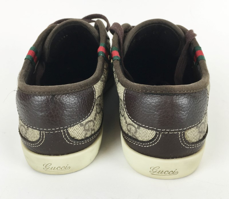 GUCCI 204283 BARCELONA LACE UP TRAINER SZ 37