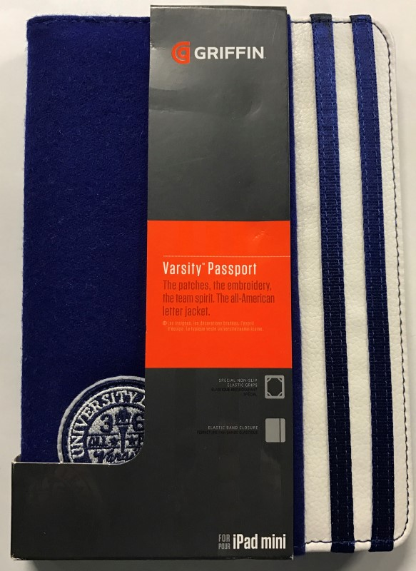 NEW GRIFFIN VARSITY PASSPORT CASE FOR IPAD MINI - BLUE
