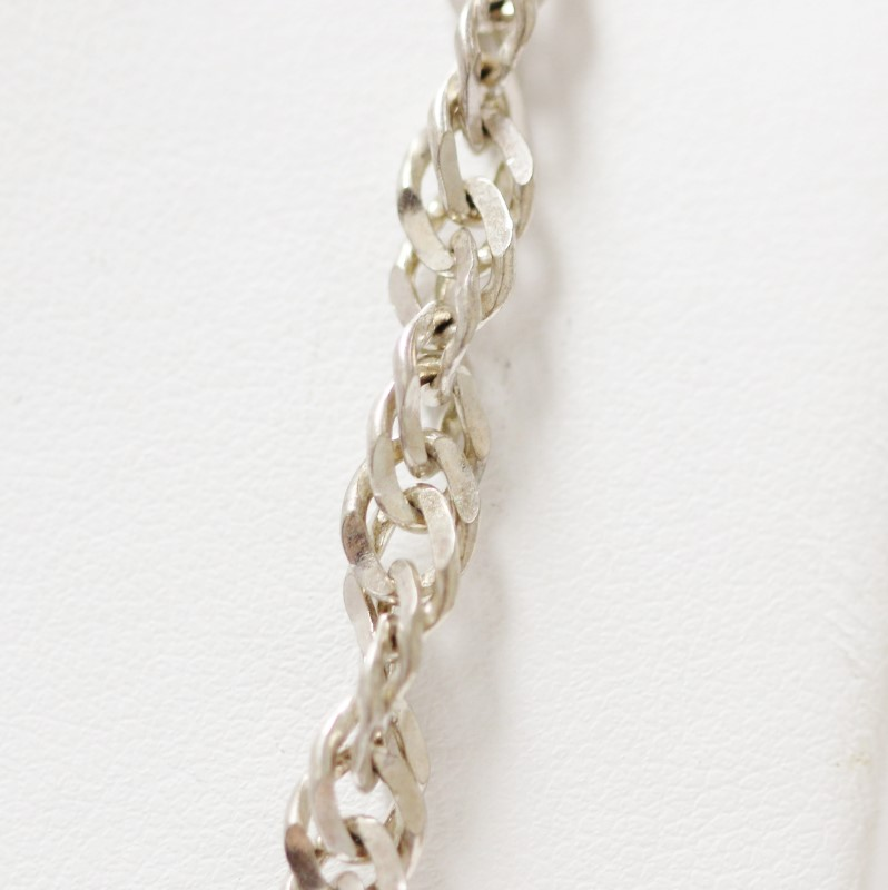 """24"""" Sterling Silver Rope Chain Necklace"""