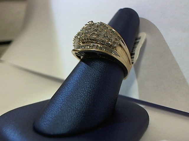 Lady's Diamond Fashion Ring 81 Diamonds 1.75 Carat T.W. 10K Yellow Gold 7.6g