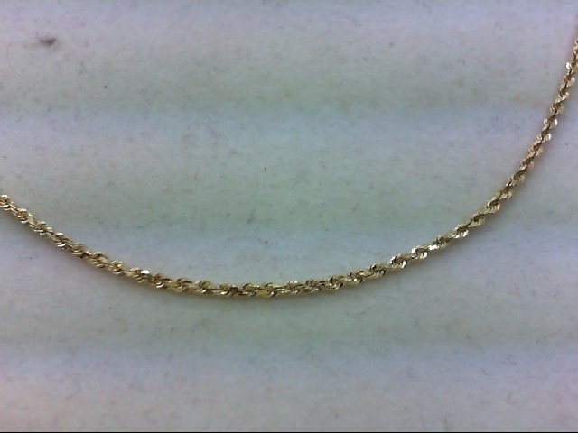 """18"""" Gold Rope Chain 14K Yellow Gold 4.5g"""