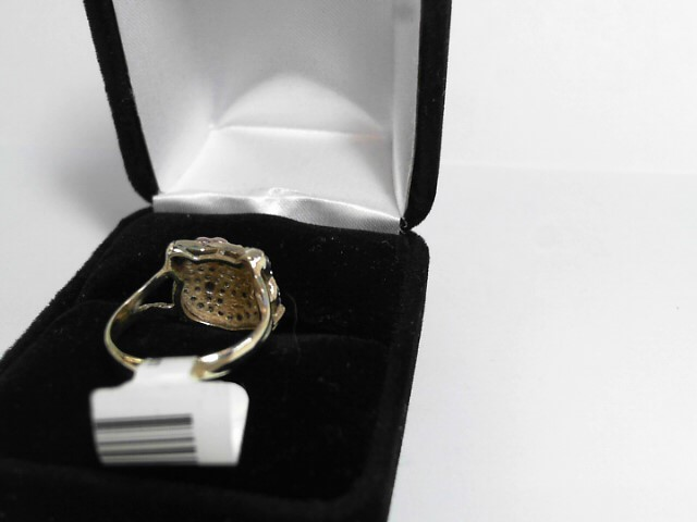 Lady's Diamond Cluster Ring 40 Diamonds .40 Carat T.W. 10K Yellow Gold 2dwt