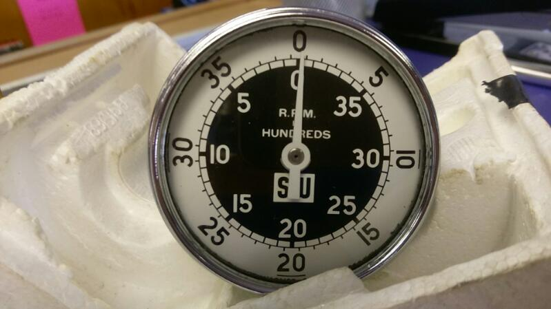 STEWART WARNER TACHOMETER HAND HELD 3.0 IN DIAMETER SER# 757
