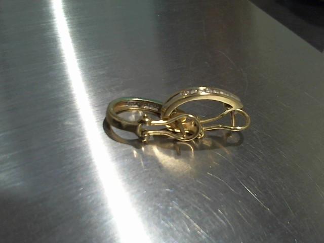 Gold-Diamond Earrings 14 Diamonds .28 Carat T.W. 14K Yellow Gold 4.3g