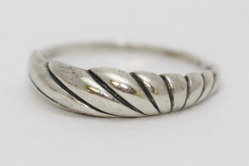 Sterling Silver Rainbow Sunburst Plain Dome Ring Size: 7.25