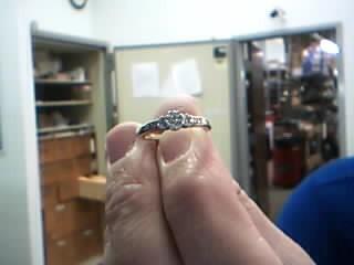 Lady's Gold-Diamond Anniversary Ring 23 Diamonds .56 Carat T.W. 10K Yellow Gold