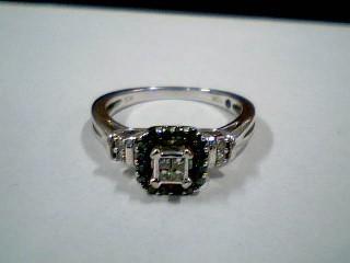 Lady's Diamond Engagement Ring 26 Diamonds .26 Carat T.W. 10K White Gold 2.5g