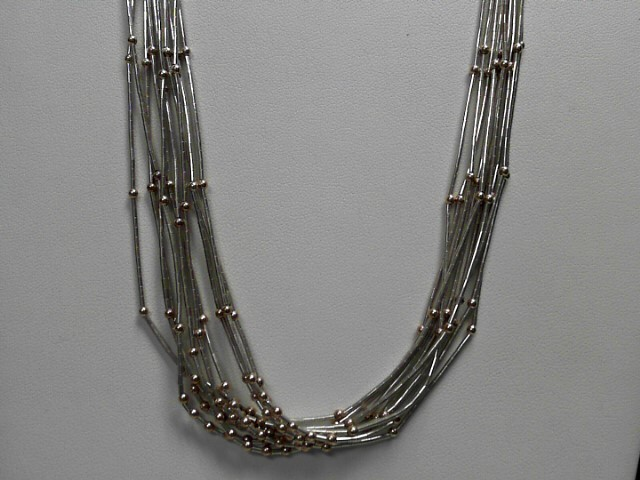 """20"""" Sterling Silver Liquid Link 28.4g .925 Chain"""