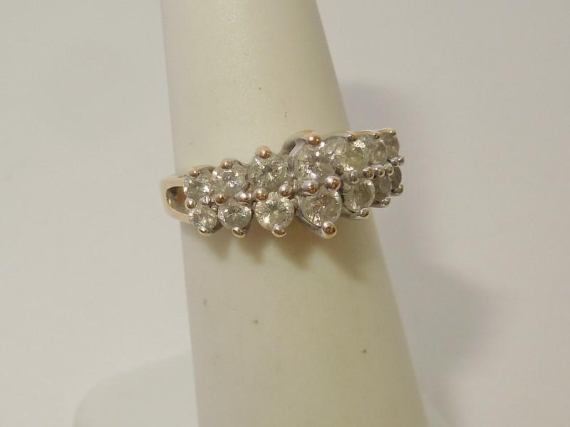 Lady's Diamond Fashion Ring 14 Diamonds .80 Carat T.W. 14K Yellow Gold 3.3g