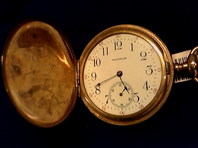 WALTHAM Pocket Watch 15 JEWEL POCKET WATCH 14K Yellow Gold 15g